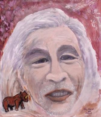 Kết quả hình ảnh cho Trần Nhương vẽ Nhà văn Nguyễn Khắc Phục